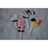 Bento farm animal picks