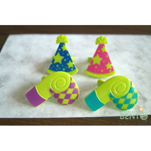 Whistles and Party hats Bento rings